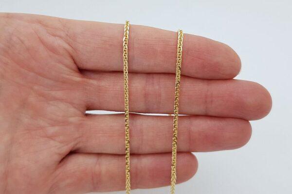 Ženska verižica iz rumenega zlata, Diana