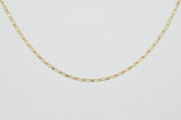 otroška verižica iz rumenega zlata figaro