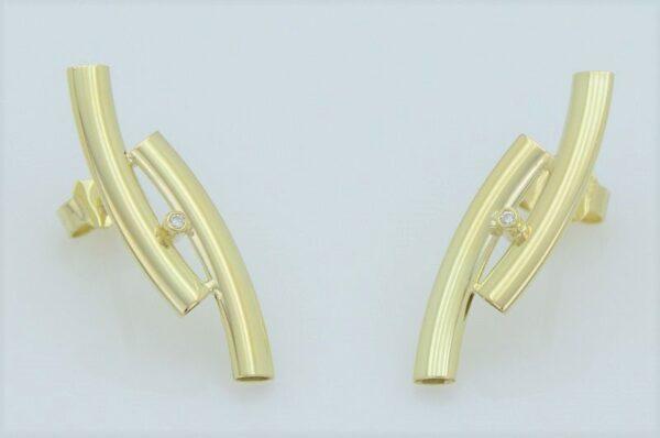 Ženski uhani iz rumenega zlata