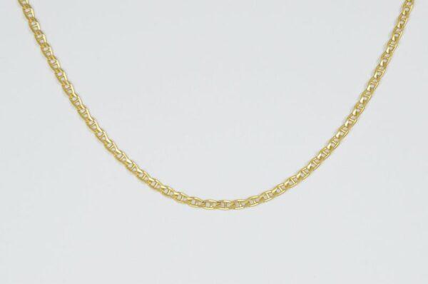 moška verižica pancer s palčko iz rumenega zlata