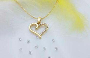 obesek iz rumenega zlata srce