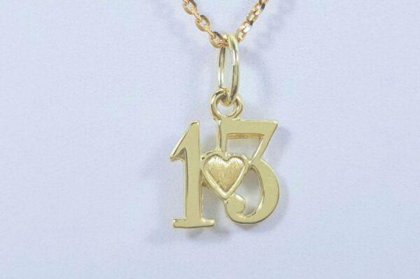 Obesek iz rumenega zlata številka 13