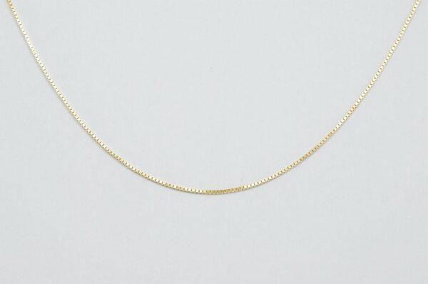 Otroška ali ženska verižica iz rumenega zlata Venezia