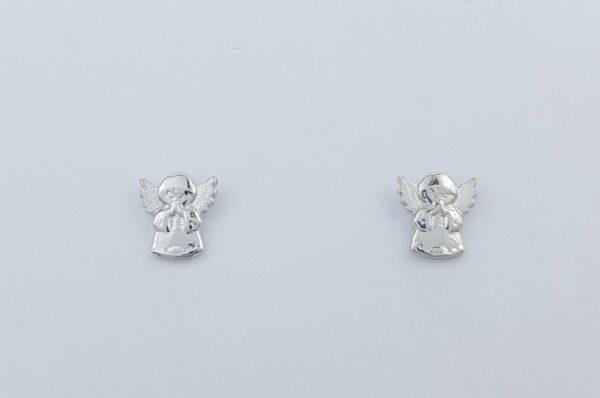 Otroški uhani iz belega zlata mini angel moli