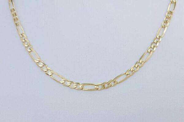 Moška verižica iz rumenega zlata figaro
