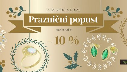 -10% popust na zlat nakit