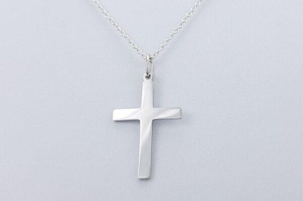 Srebrn otroški obesek križ