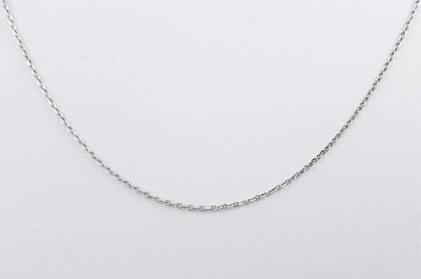 Srebrna ženska verižica, diamantiran anker