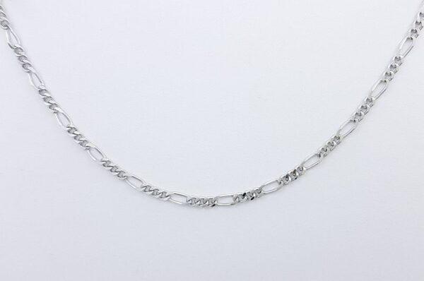 Srebrna fantovska verižica, figaro vzorec
