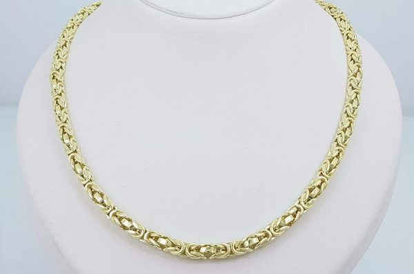Moška ali ženska ogrlica iz rumenega zlata, kraljevi vez