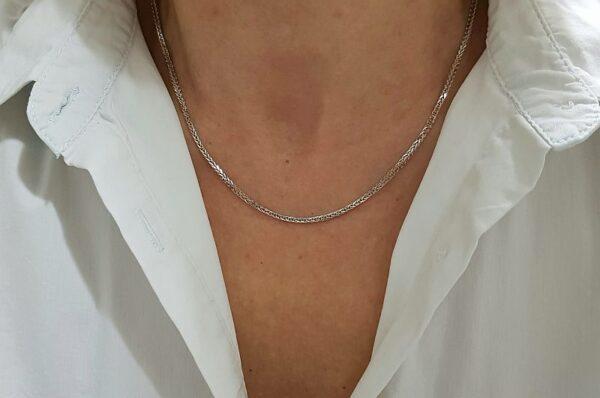 Ženska verižica iz belega zlata, Diana
