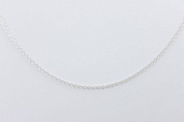 Srebrna otroška ali ženska verižica, okrogli anker